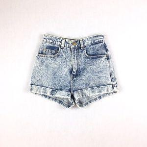 American Apparel Shorts - American Apparel Sz 25 High waist acid wash shorts